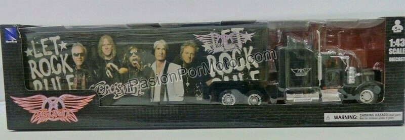 1:43 Kenworth W900 1979 Custom C Caja Seca Panzona Aerosmith Trailer New Ray