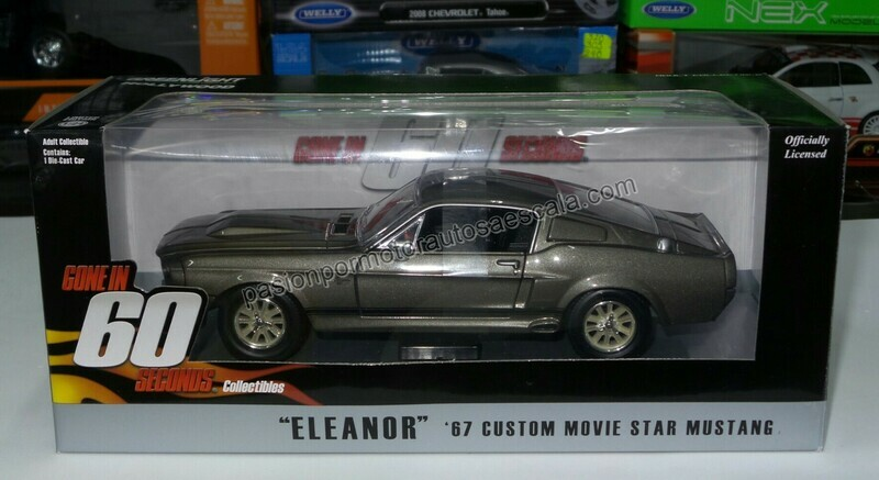1:24 Ford Mustang Custom 1967 Eleanor 60 Segundos Greenlight Shelby