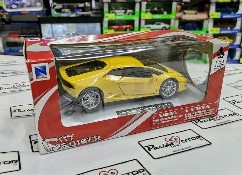 1:24  Lamborghini Huracan LP610-4 2014 Amarillo New Ray c Caja