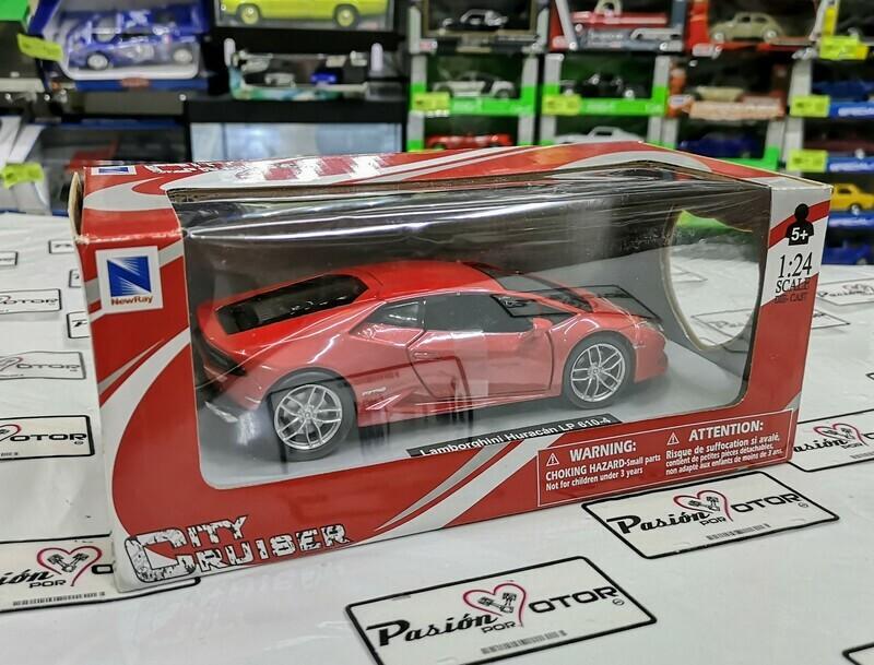 1:24  Lamborghini Huracan LP610-4 2014 Rojo New Ray c Caja
