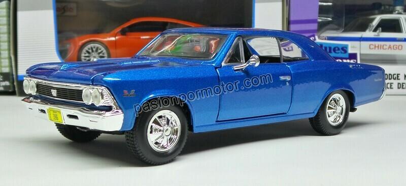 1:24 Chevrolet Chevelle SS 396 1966 Azul Maisto Special Edition En Display / A Granel