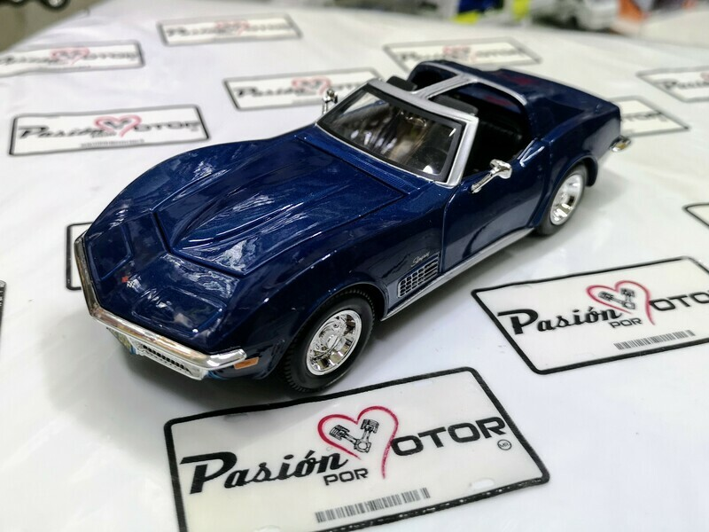 1:24 Chevrolet Corvette 1970 Azul Maisto Special Edition En Display / A Granel