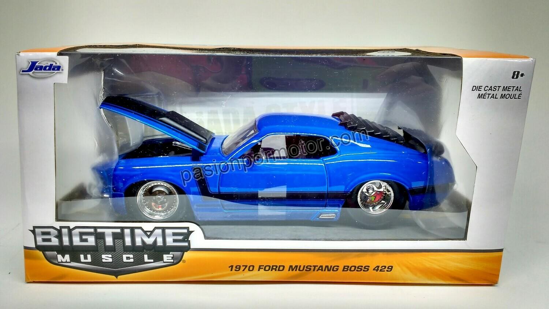 1:24 Ford Mustang Boss 429 1970 Azul Jada Toys Big Time Muscle En Caja