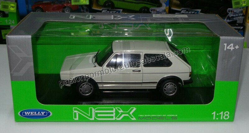 1:18 Volkswagen Golf GTi A1 1983 Blanco Welly Caribe