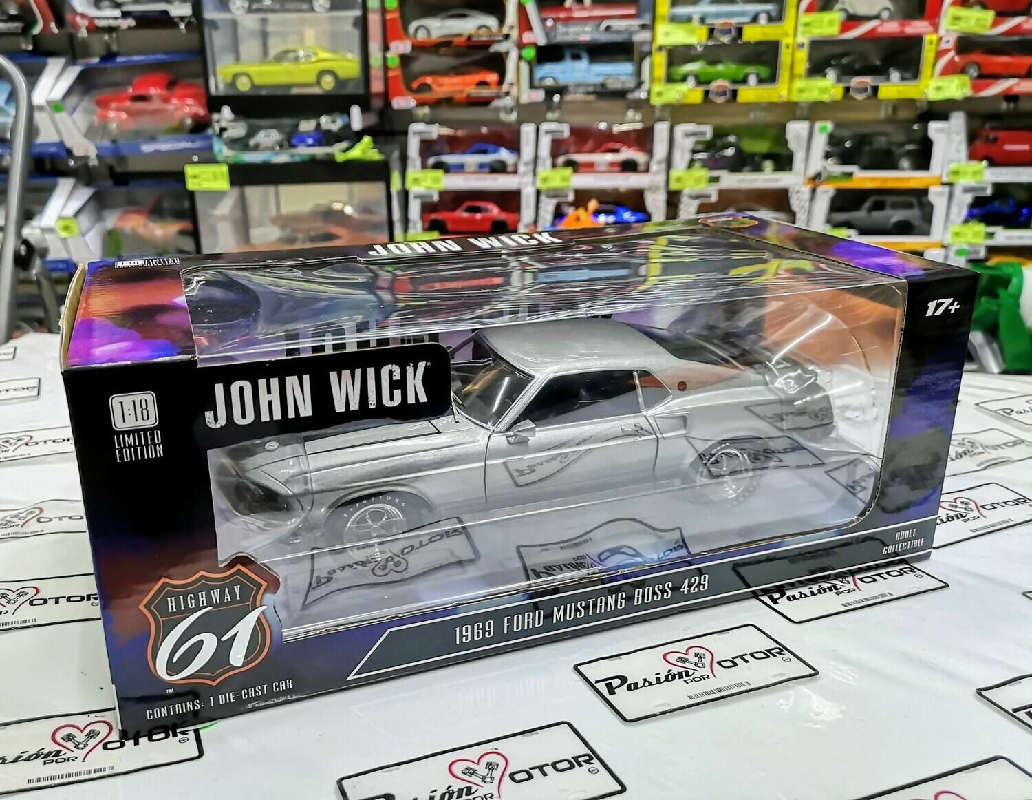 1:18 Ford Mustang Boss 429 1969 John Wick Highway 61