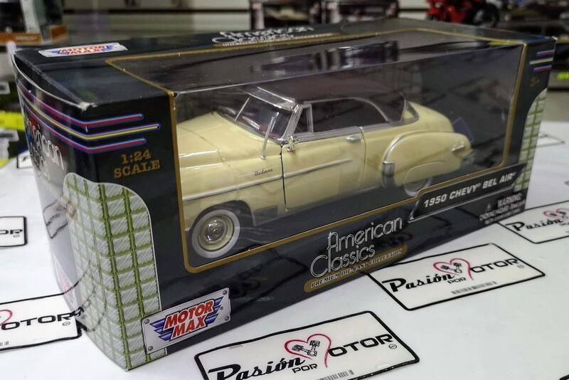 1:24 Chevrolet Bel Air Coupe 1950 Beige C Café Motor Max C Caja