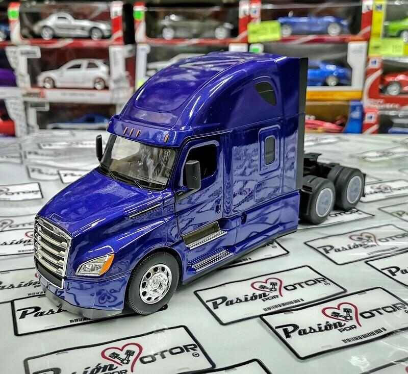 1:32 Freightliner Cascadia 2018 Azul Cabina Welly En Display / A Granel