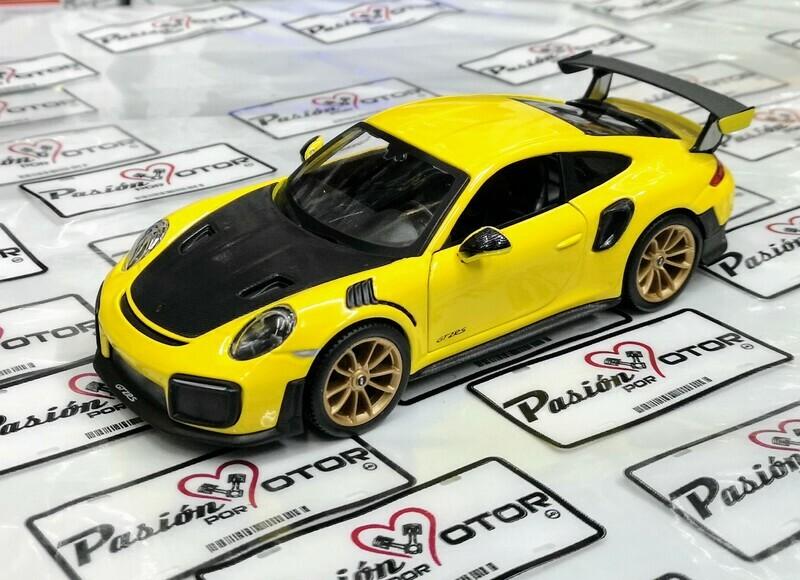 1:24 Porsche 911 GT2 RS 2018 Amarillo Maisto Special Edition En Display / A Granel