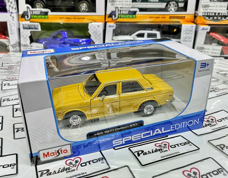1:24 Datsun 510 Coupe 1971 Amarillo Maisto Special Edition En Caja