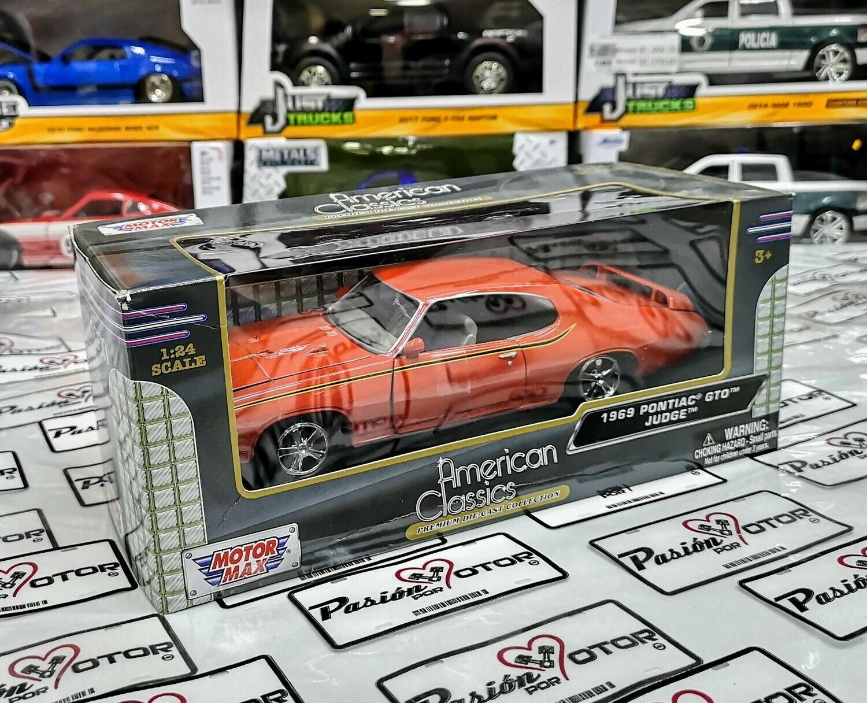 1:24 Pontiac GTO The Judge 1969 Naranja Motor Max American Classics C Caja