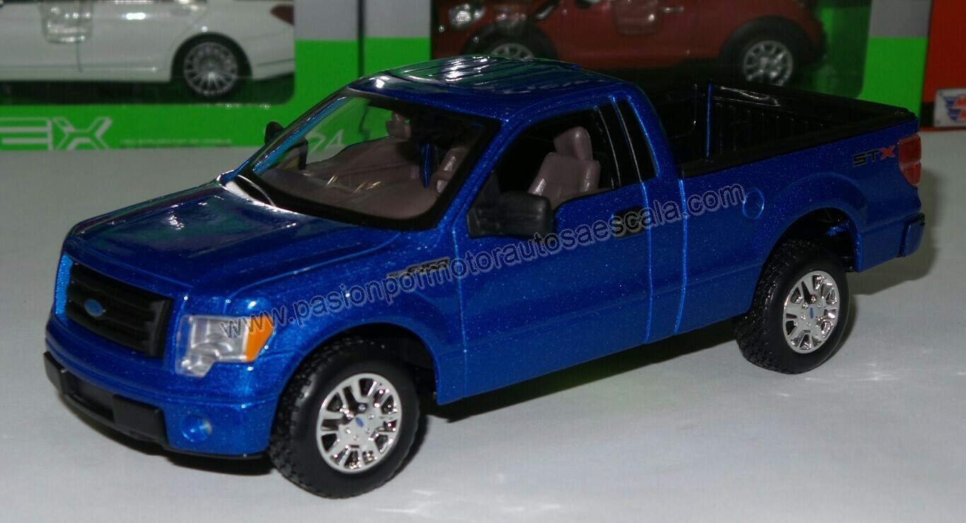 1:25 Ford Lobo Pick Up F-150 STX 2010 Azul Maisto Special Edition Display / a Granel