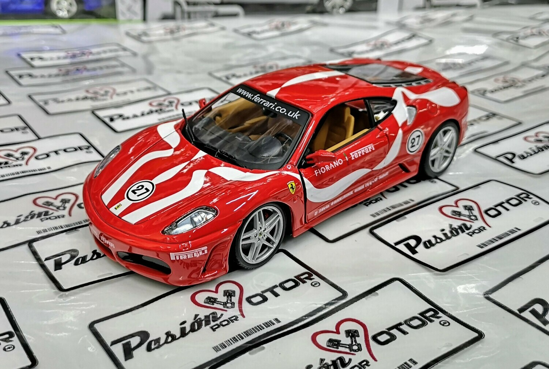 1:24 Ferrari F430 Fiorano 2009 Bburago Race & Play Burago En Display / A Granel