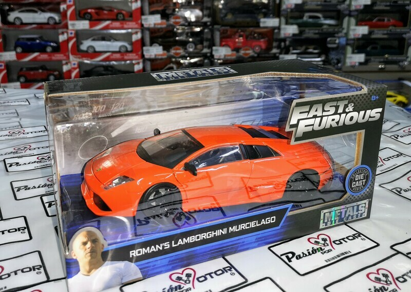 1:24 Lamborghini Murcielago Naranja Roman's Rapido Y Furioso 8 Jada Toys En Caja