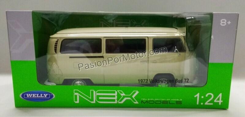 1:24 Volkswagen Bus T2 1972 Beige Welly Combi C Caja