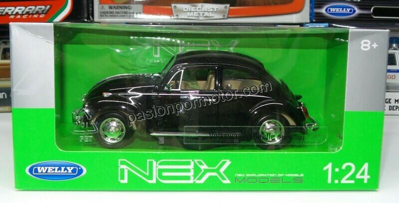 1:24 Volkswagen Beetle 1302 1972 Negro Welly C Caja
