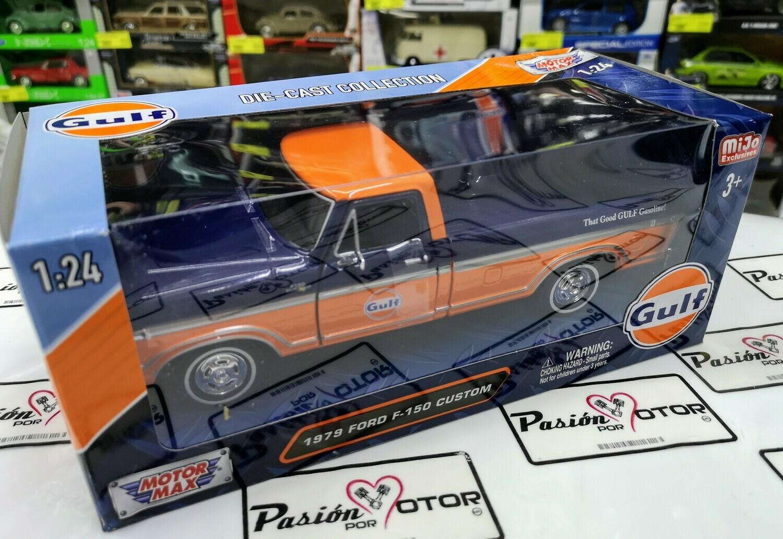 1:24 Ford F-150 Custom 1979 Pick Up Gulf Motor Max C Caja