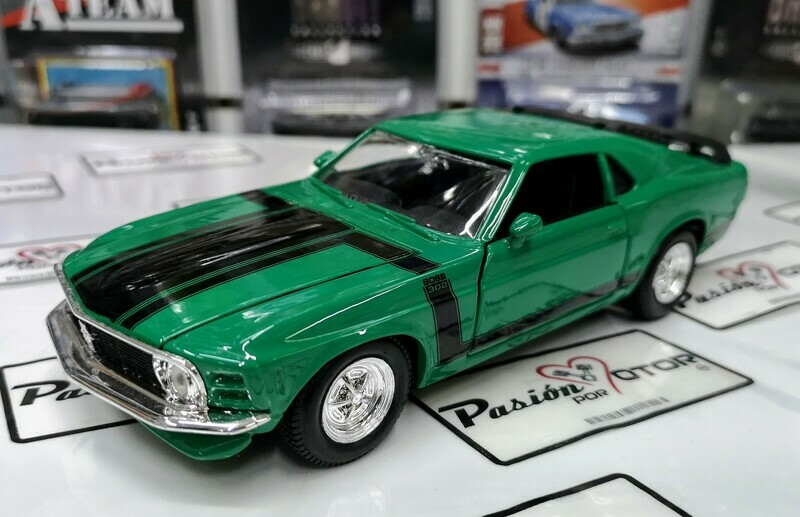 1:24 Ford Mustang Boss 302 1970 Verde Maisto Special Edition En Display / A Granel