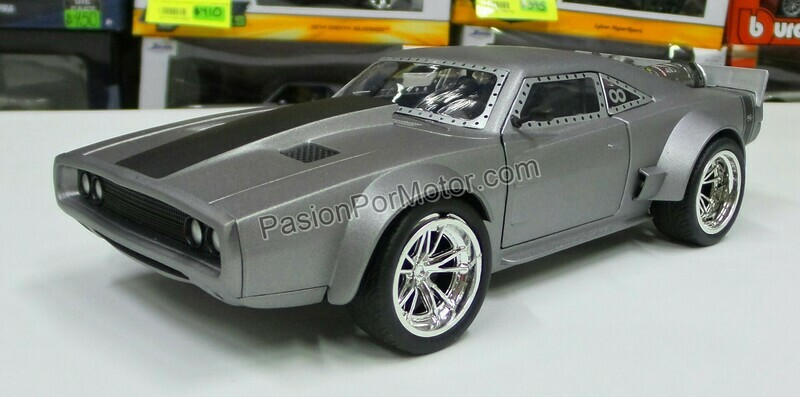 1:24 Dodge Charger Ice 1968 Rapido Y Furioso 8 Jada Toys En Display / A Granel