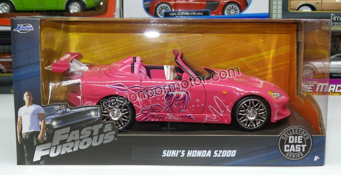1:24 Honda S2000 2001 Rosa Suki's Rapido Y Furioso 2 Jada Toys Con Caja