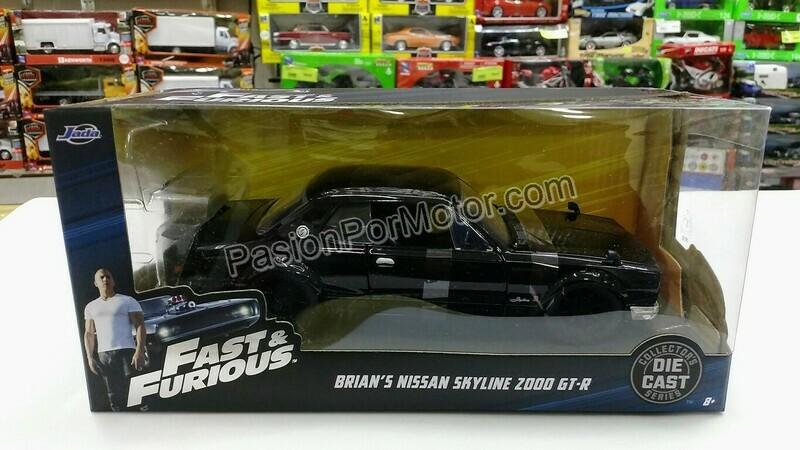 1:24 Nissan Skyline 2000 GT-R KPGC10 1971 Negro Rapido Y Furioso 5 Jada Toys En Caja