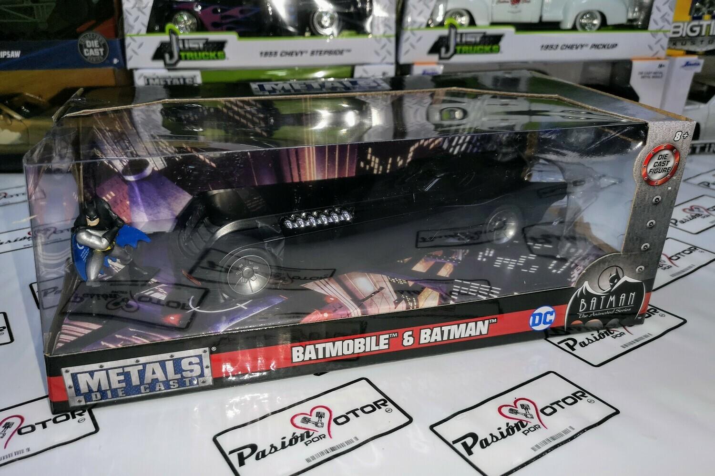1:24 Batimovil Batman Animated C Figura Jada Toys Metals DC Comics C Caja