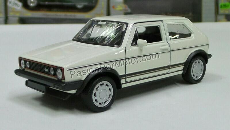 1:32 Volkswagen Golf GTi MK1 A1 1983 Pirelli Blanco Fricción Welly En Display a Granel Caribe