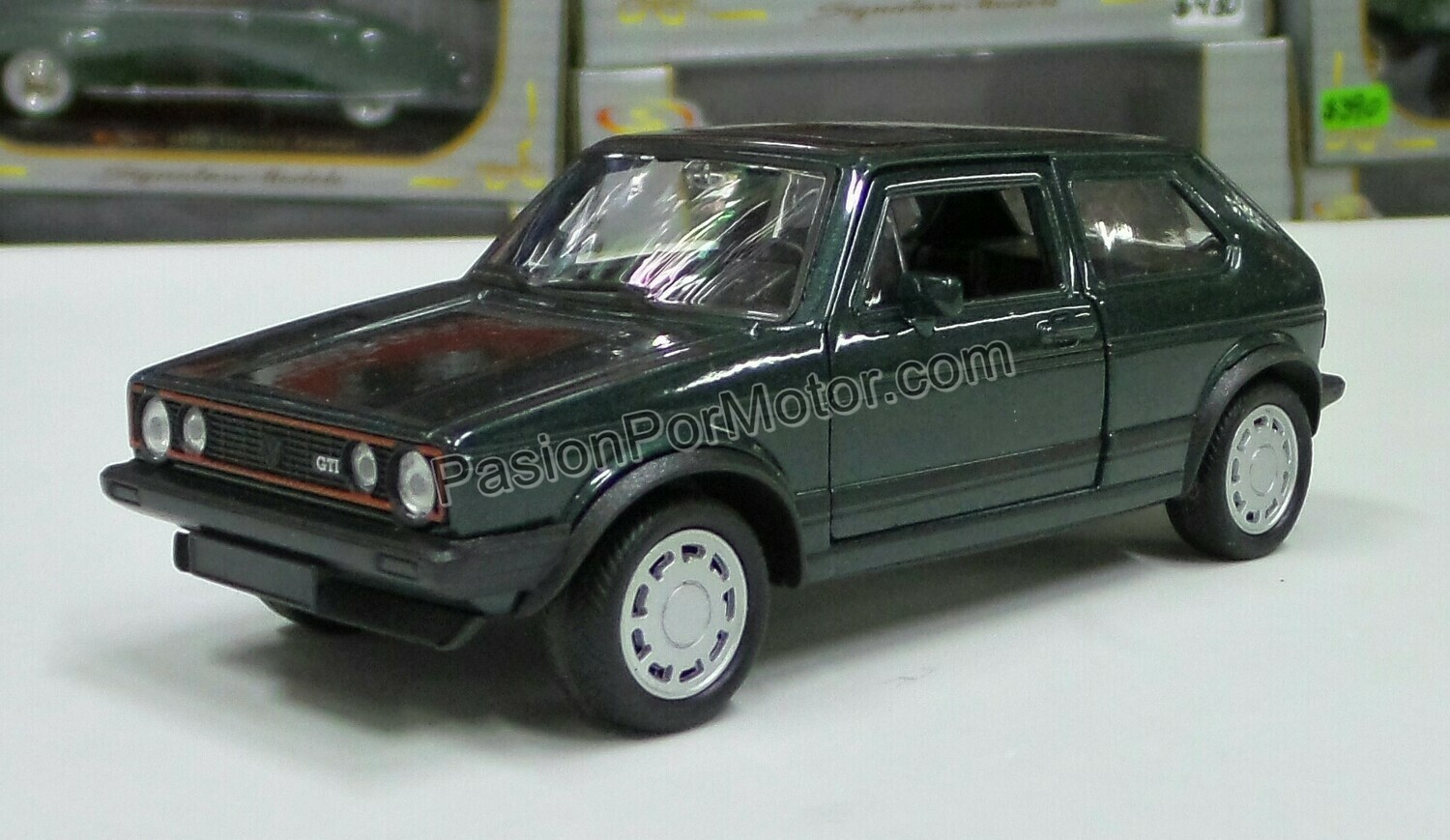 1:32 Volkswagen Golf GTi MK1 A1 1983 Verde Fricción Welly En Display a Granel Caribe