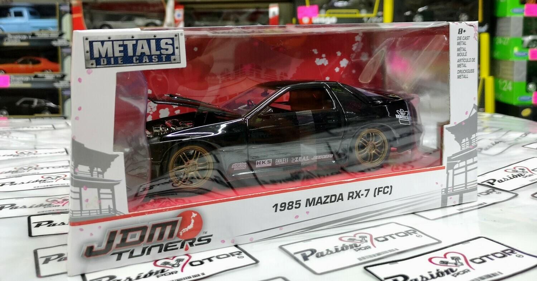 1:24 Mazda RX-7 FC3S 1985 Negro Jada Toys JDM Tuners Con Caja