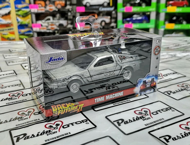 Jada Toys 1:32 DMC DeLorean c Mr. Fusion Coupe Time Machine Back To The Future II 1981 Acero Hollywood Rides En Caja