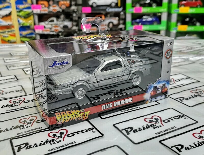 Jada Toys 1:32 DMC DeLorean c Mr. Fusion Coupe Time Machine Back To The Future II 1981 Acero Hollywood Rides En Caja