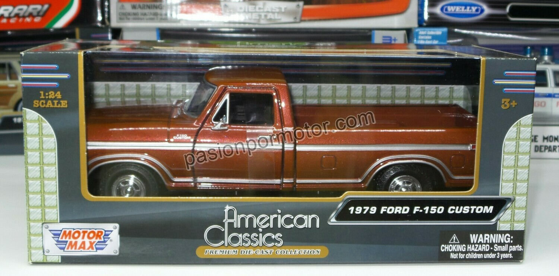 1:24 Ford F-150 Custom 1979 Pick Up Cobre Motor Max C Caja