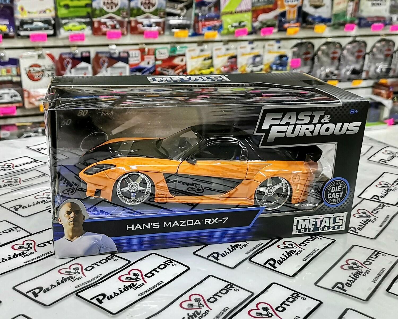 1:24 Mazda RX7 Han's Rapido Y Furioso 3 Reto Tokio Jada Toys Con Caja