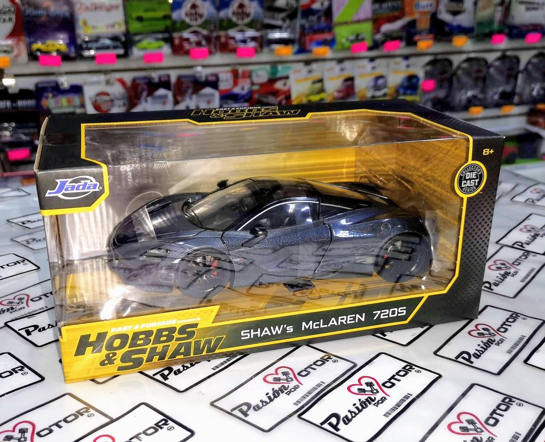 1:24 McLaren 720S 2018 Gris Rapido Y Furioso Hobbs & Shaw Jada Toys Con Caja
