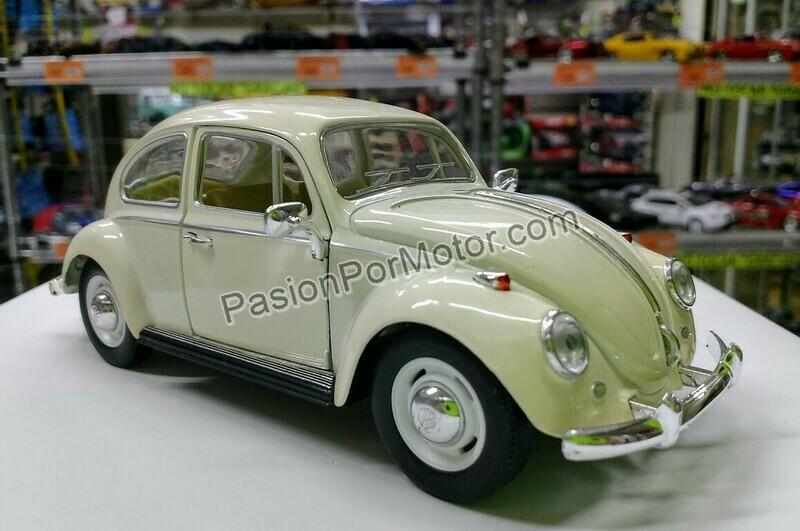 1:24 Volkswagen Beetle 1967 Beige Vocho Kinsmart En Display / A Granel