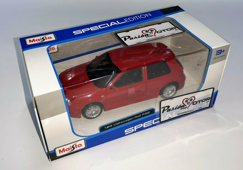 1:24 Volkswagen Golf A4 R32 2002 Rojo Maisto Special Edition C Caja