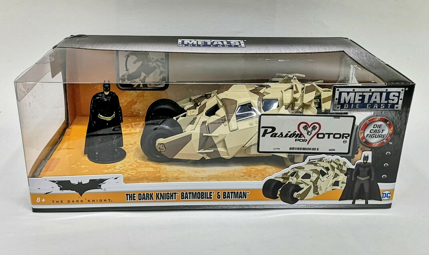 1:24 Batimóvil 2005 Tumbler Camuflaje The Dark Night Jada Toys Metals DC Comics En Caja