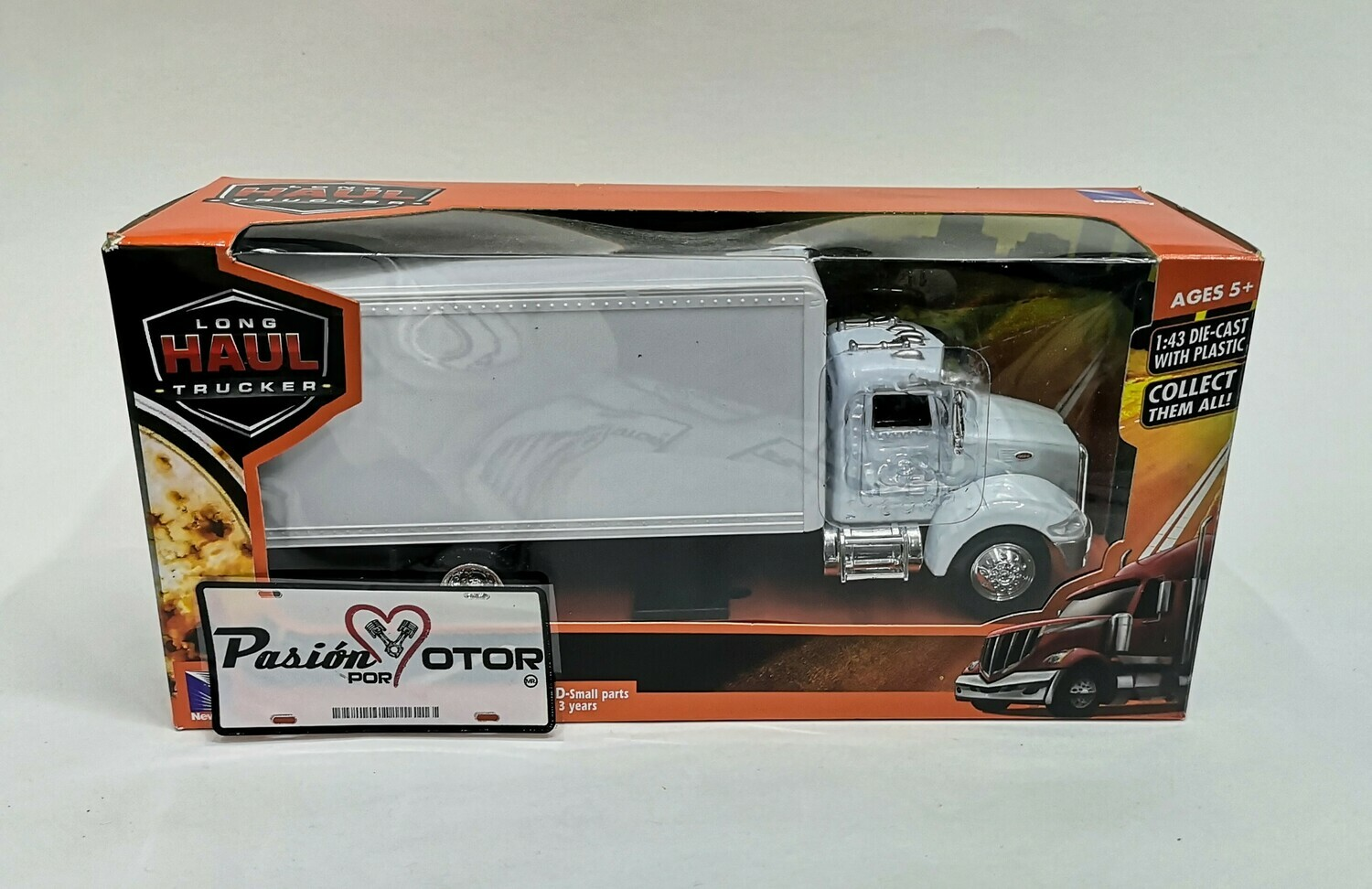 1:43 Peterbilt Model 335 Caja Seca Blanco New Ray