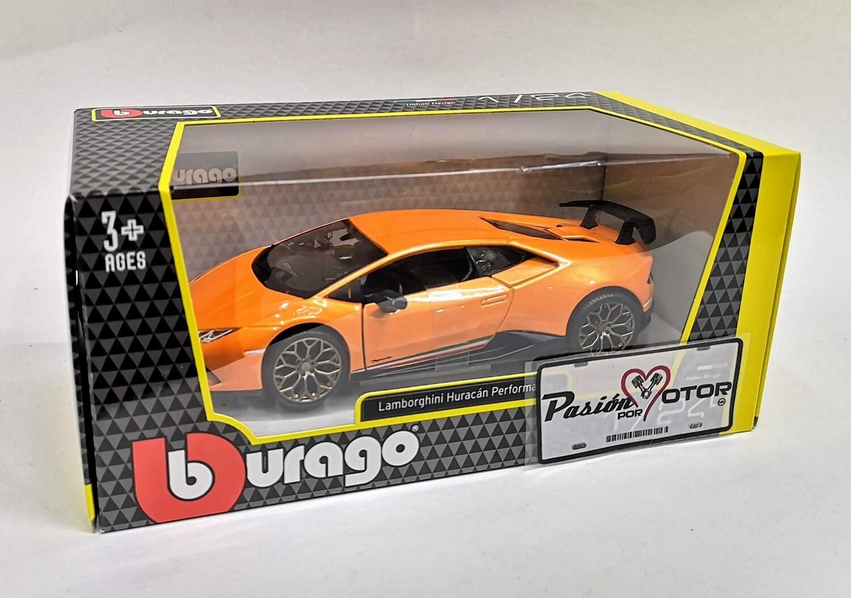 1:24 Lamborghini Huracan LP640-4 Performante 2017 Naranja Bburago C Caja