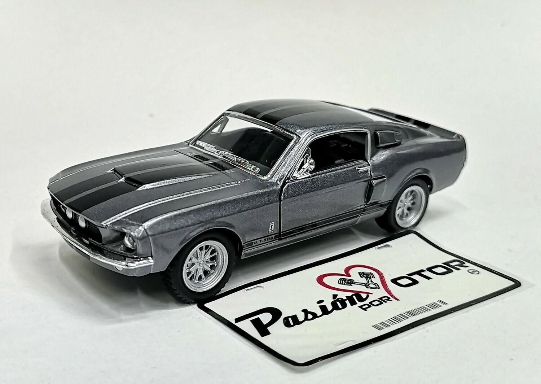 1:38 Ford Shelby GT-500 1967 Gris C Franjas Grafito Kinsmart En Display / a Granel 1:32
