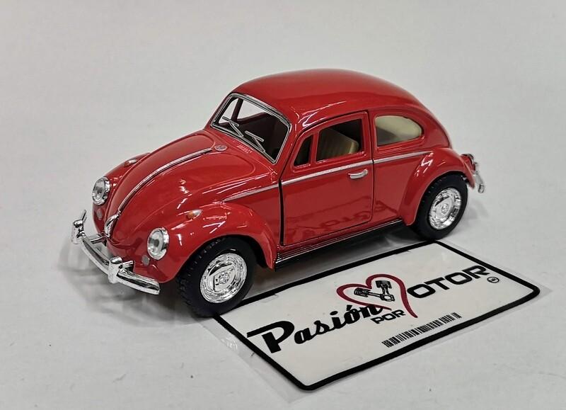 1:32 Volkswagen Beetle 1967 Rojo De Fricción Kinsmart En Display / a Granel