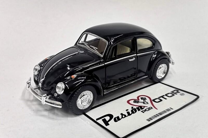 1:32 Volkswagen Beetle 1967 Negro De Fricción Kinsmart En Display / a Granel