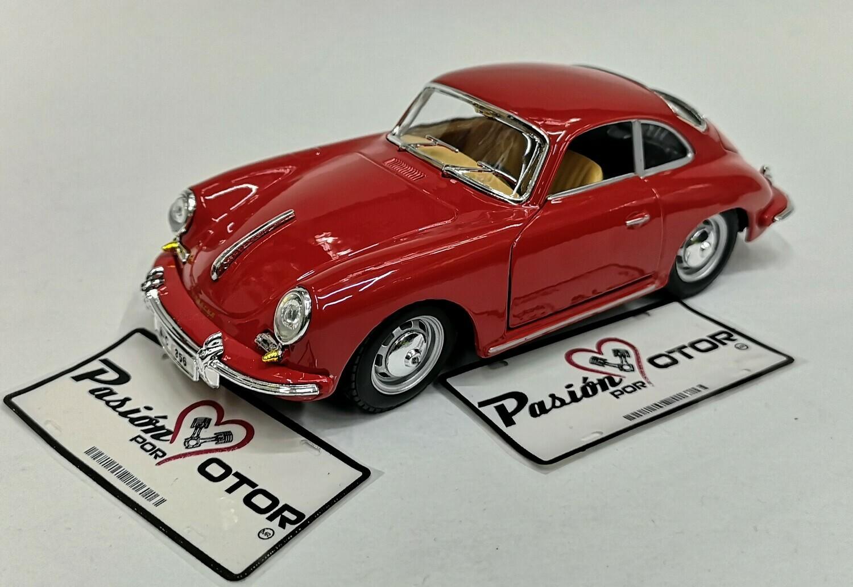 Bburago 1:24 Porsche 356B Coupe 1961 Rojo Display a Granel
