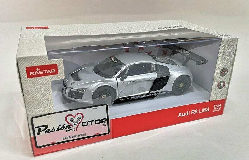 1:24 Audi R8 LMS 2009 Plata Rastar C Caja