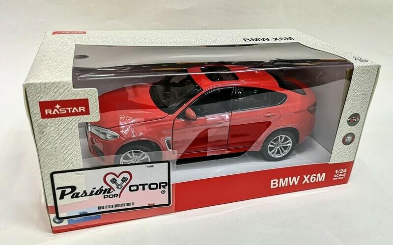 1:24 BMW X6 M 2015 F16 Rojo Rastar C Caja