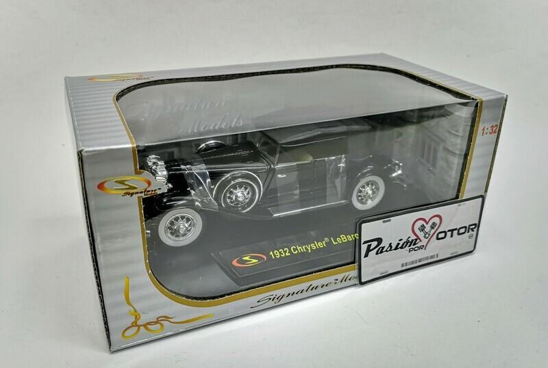 1:32 Chrysler LeBaron 1932 Negro Signature Models Carcacha C Caja