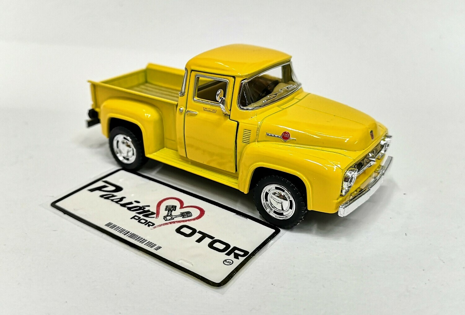 1:38 Ford F-100 Pick Up 1956 Amarillo  Kinsmart En Display / A Granel Serie F 1:32