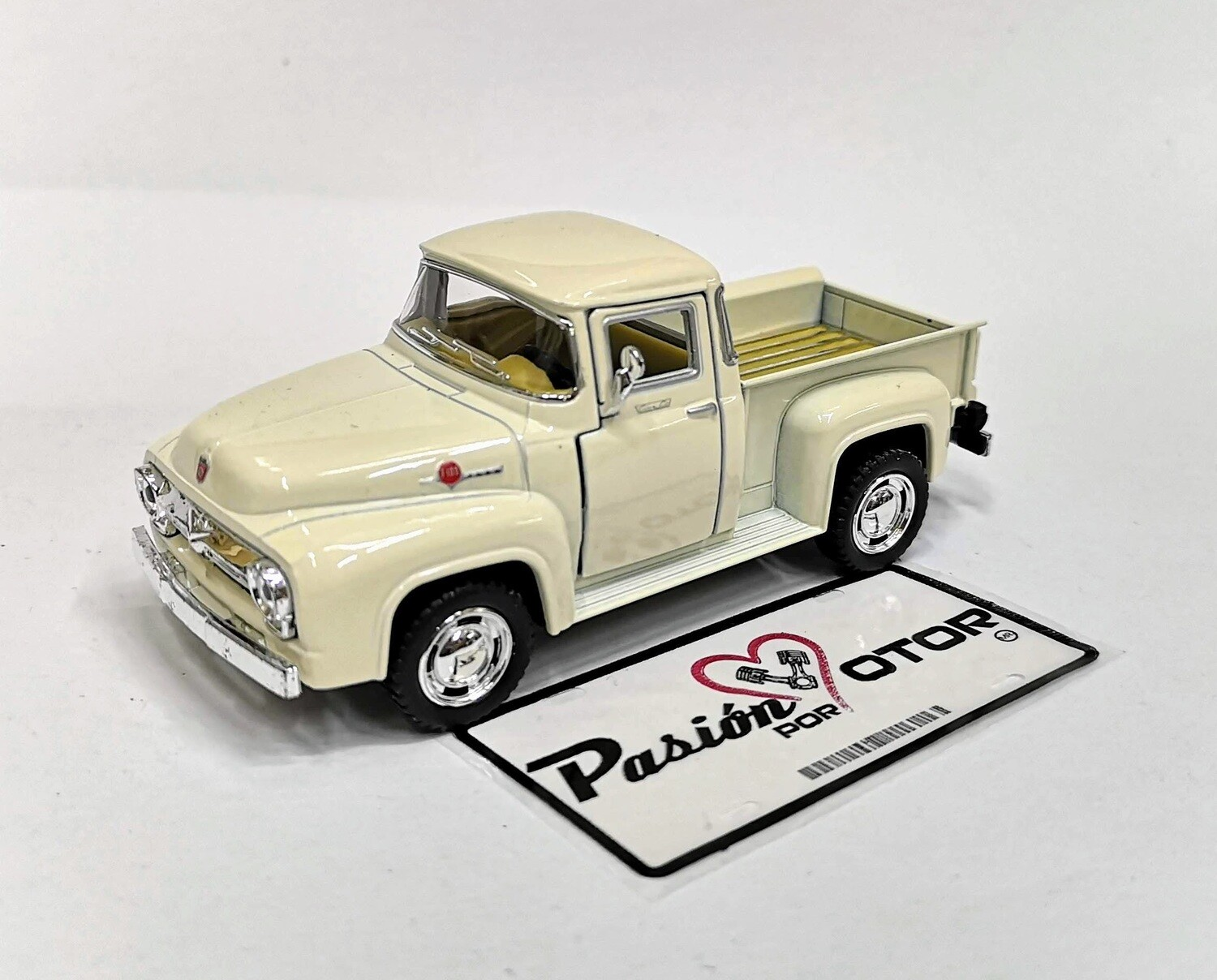 1:38 Ford F-100 Pick Up 1956 Beige  Kinsmart En Display / A Granel Serie F 1:32