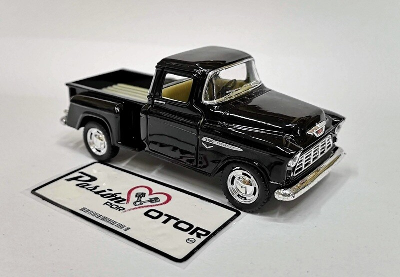 1:38 Chevrolet 3100 Stepside Pick Up 1955 Negro  Kinsmart En Display / A Granel Chevy 1:32
