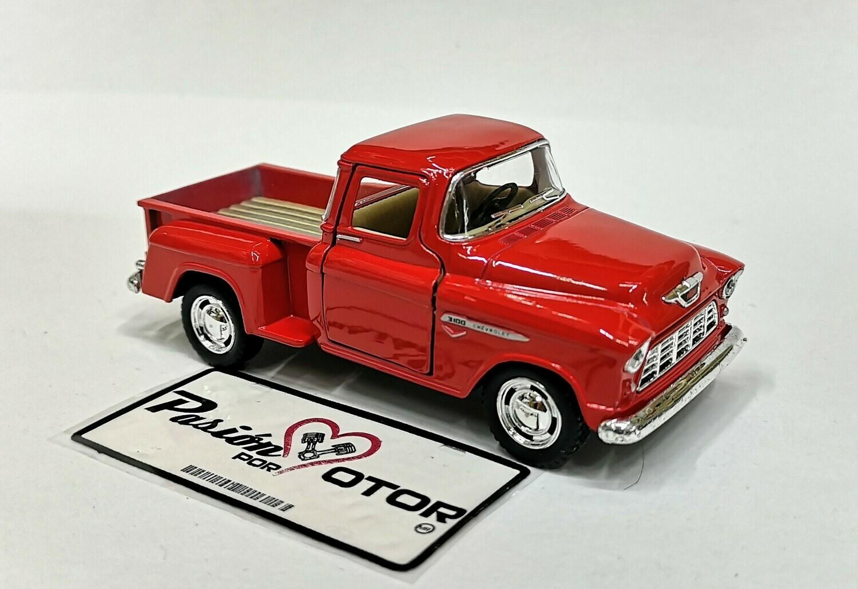 Kinsmart 1:38 Chevrolet 3100 Stepside Pick Up 1955 Rojo Display a Granel 1:32