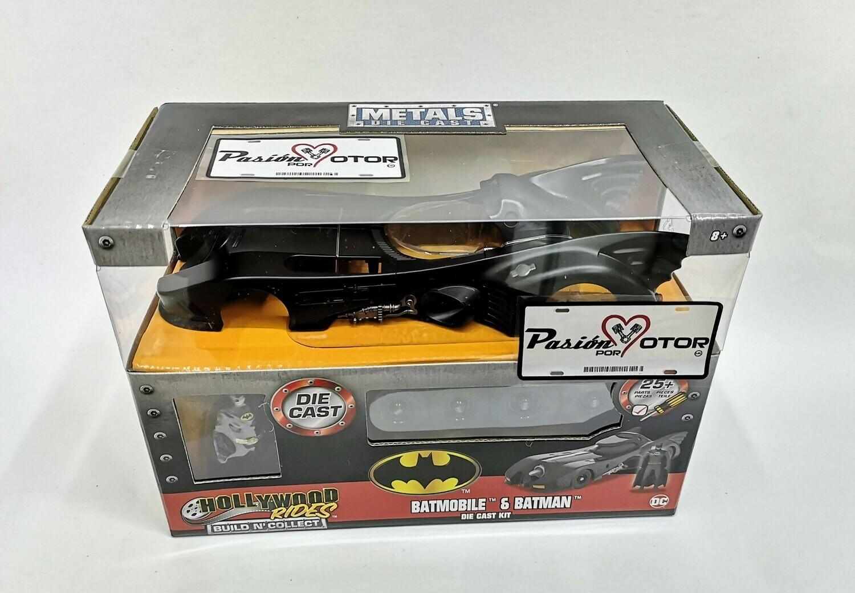 1:24 Batimovil 1989 - 1992 Tim Burton Para Armar Batman Jada Toys Metals Build N'Collect Para Armar